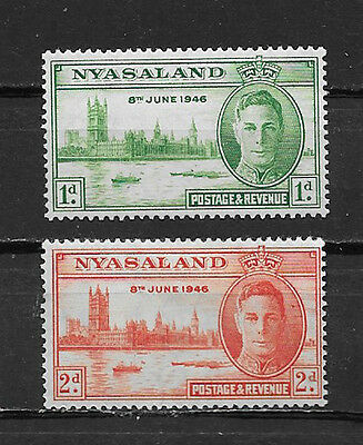 Nyasaland ,1946 , Peace Issue ,  Set Of 2  , Perf, Mnh/mh