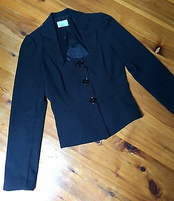 Fitted Black Review Jacket. Size 8
