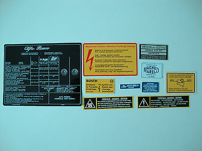 Alfa Romeo 105 115 Series Decals Giulia - Berlina - Spider
