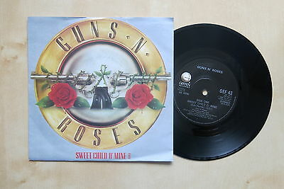 "GUNS N' ROSES Sweet Child Of Mine Remix UK 7"" in  picture sleeve Geffen GEF 43"