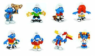 New Smurfs - 2004 Smurf Soccer Figures. Lot of 8 new Football Smurfs by Schleich