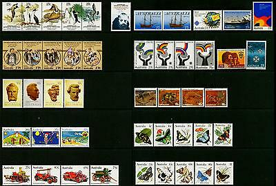 Australia & AAT MNH MUH Collection of Stamps - 1983 Complete Full Year