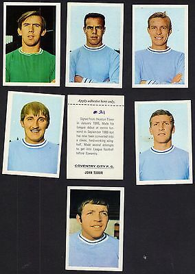 Coventry City Football Cards/stickers Fks 1968-69.