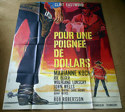 A Fistful of Dollars, Original 1964 French Movie Film Cinema Poster Affiche