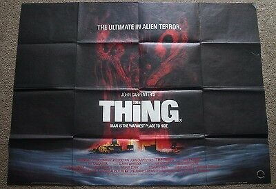 The Thing, Original 1982 British Quad Movie Film Cinema Poster, John Carpenter