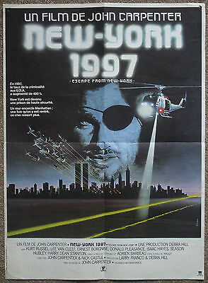Escape From New York, Orig 1981 French Petite Film Movie Cinema Poster Affiche