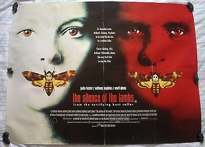 Silence of the Lambs, Original 1991 British Quad Movie Film Cinema Poster