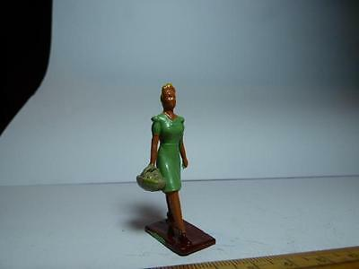 Scarce Crescent Toys Fish Shop Customer Or Crescent Butcher's Shop Lady