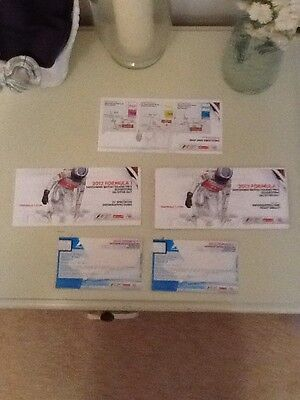 BRITISH GRAND PRIX 2012 SILVERSTONE FORMULA ONE F1 OFFICIAL TICKET &extras