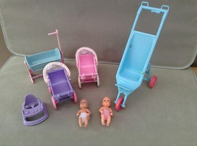 simba baby doll & house nursery furniture - barbie size