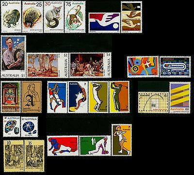 Australia MNH MUH Collection of Stamps - 1974 Complete Full Year