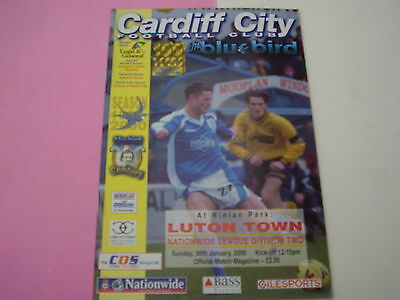 1999/2000 Cardiff City v Luton Town. Division 2. Superb.