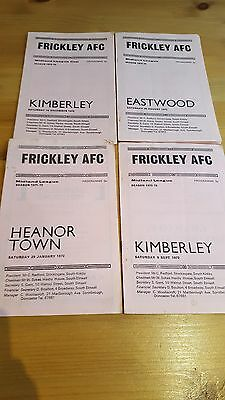Selection of Frickley AFC Home Programmes early 1970's - Non League x 4