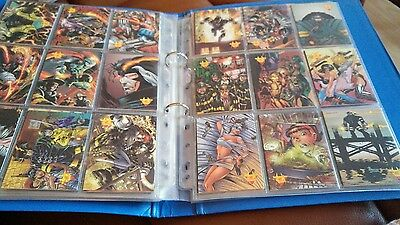 TRADING CARD SET OF 90 cards ash comics superhero firefighter in sleeves 1996