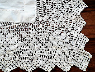 Large Cutwork/lace/crochet Tablecloth