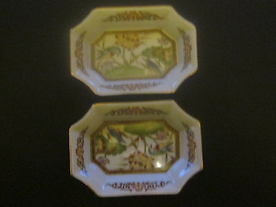 Two  Small Oriental  Decorated Dishes