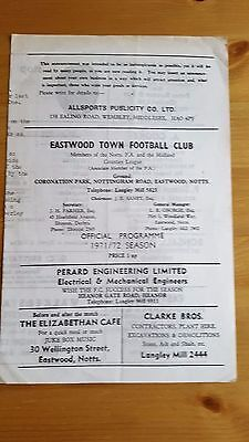 Eastwood Town V Grantham 8.4. 1972 - Midland Counties League