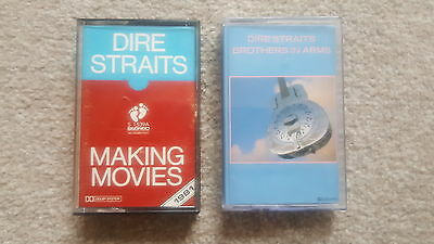 Dire Straits X 2 Cassette Albums Lot ~ Making Movies & Brothers In Arms