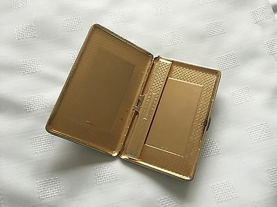 Vintage Black English Leather Cigarette Case or use as Business Card Holder
