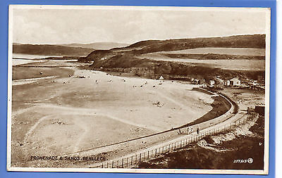 Old Vintage Postcard Promenade & Sands Benllech Anglesey Wales