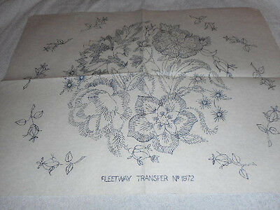 Vintage Embroidery Iron on Transfers-Fleetway No.1972 - Flowers