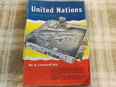 1955 3-D The United Nations and How it Works Teaching Game (do it yourself kit)