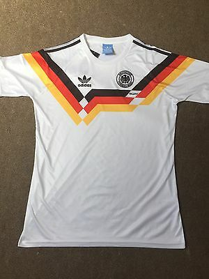 Germany Home 1990 Retro Vintage Football Shirt Small *1st CLASS RECORDED*