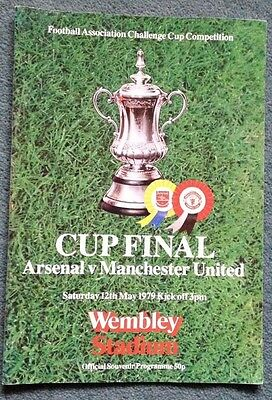 ARSENAL v MANCHESTER UNITED FA CHALLENGE CUP FINAL PROGRAMME 12th May 1979