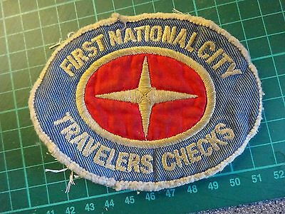 FORMULA 1 First National City Travellers Checks Original Vintage Sew On Patch