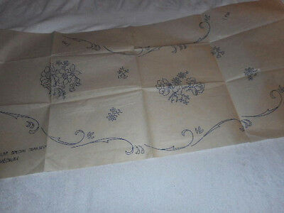 Large Vintage Embroidery Iron on Transfer-Woman's Realm -Flowers/Swirls