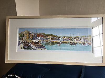 Padstow Cornwall Print In A Light Frame