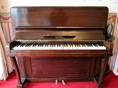 William SAMES upright piano fully working condition