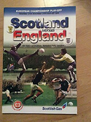 1999 Scotland V England Euro Championship Play Off Programme