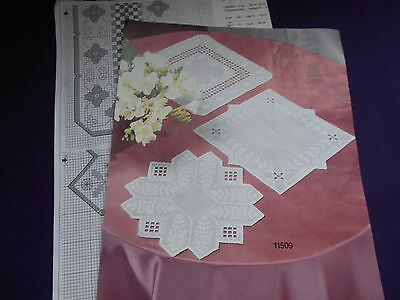 3 small Hardanger doilie chart by OOE