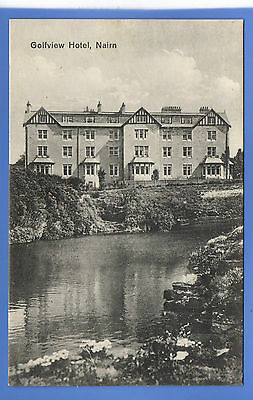 Old Vintage Postcard Golfview Hotel Nairn Nairnshire Scotland
