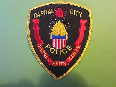 Collectible South Dakota Police Patch Pierre Capital City New