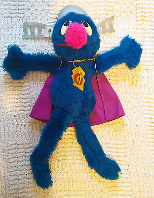 Vintage Knickerbocker Super Grover Sesame Street Soft Toy