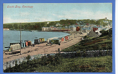 Old Vintage 1904 Postcard South Bay Swanage Dorset Changing Huts Beach