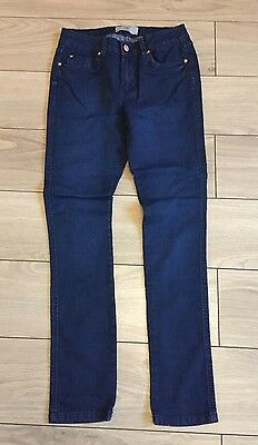Size: Age 13 Years - Girls Navy Blue Denim Skinny Jeans Trousers - New Look  VGC