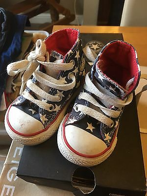 Baby Converse Hi Tops All Stars Uk Infant Size 3