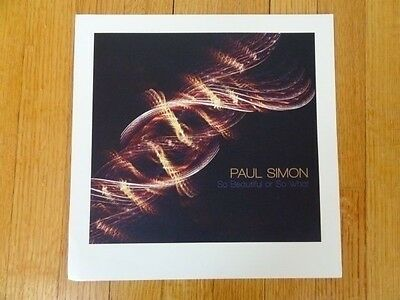 PAUL SIMON so beautiful or so what Promo POSTER 12 x 12 collectible