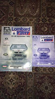 Official Programme  (Lombard) RAC Rally 1992
