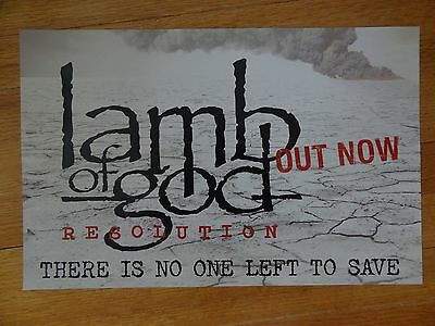 Lamb of God Poster Promo collectible 11 x 17 Resolution
