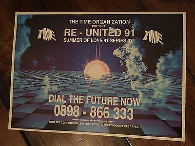 Rave Flyers Time Organisation 1991