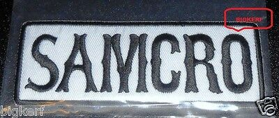 "Samcro Embroidered   ""sons Of Anarchy""   Roadgear Biker Patch --- Sew Or Iron-On"