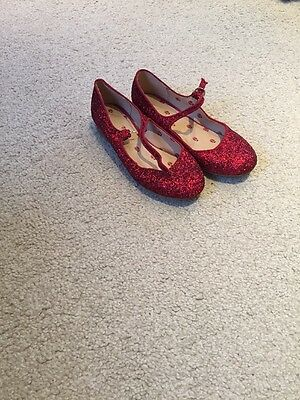 Girls Red Sparkle Shoes Size 5 From Next