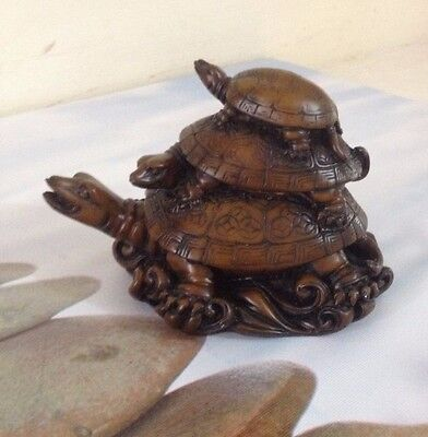 China clay Miniature Turtle Figurines Glossy Finish Japan
