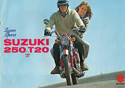Suzuki Motorcycle 250 T20 Super Sport Brochure.