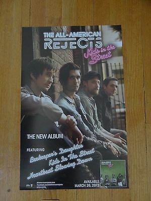 All-American Rejects Poster kids in the street 14 x 22 Promo collectible