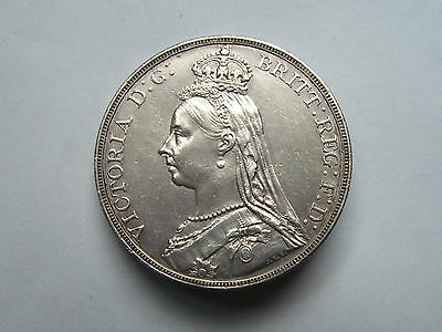 Victoria Crown Dated 1892 Uncirculated,scarce In This Grade